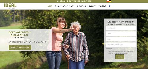 IdealPflege - responsywne strony www
